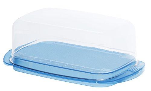 """rotho butterdose fresh tischfeiner aufbewahrungsbehaelter fuer butter mit glasklarer haube bpa freie vorratsdose aus kunststoff san spuelmaschinengeeignet ca 18x9 5x6 9 cm lxbxh - Rotho Butterdose """"Fresh"""" - tischfeiner Aufbewahrungsbehälter für Butter mit glasklarer Haube, BPA-freie Vorratsdose aus Kunststoff (SAN) - spülmaschinengeeignet, ca. 18x9.5x6.9 cm (LxBxH)"""